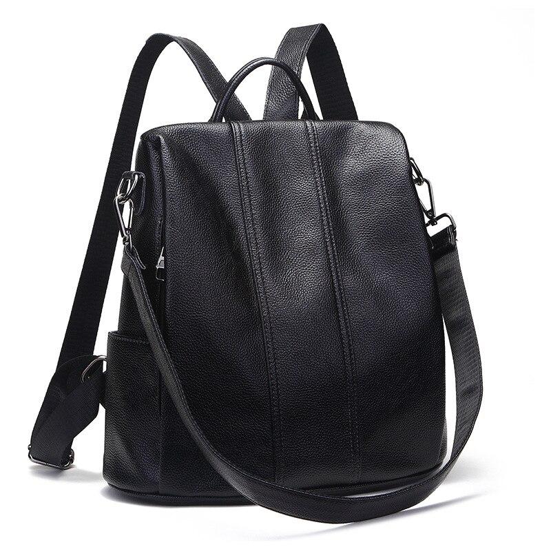 KYYSLO grande capacité multi-fonction anti-vol dame sac à dos en cuir véritable version coréenne de sauvage voyage sac à bandoulière femmes