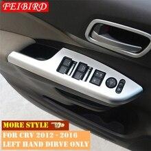 İç Honda CRV CR V 2012 2013 2014 2015 2016 kapı kolu tutucu pencere kaldırma düğmesi anahtarı dekorasyon paneli kapağı döşeme