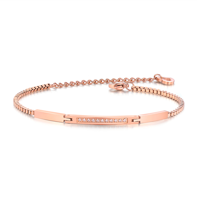 City Fashion Jewelry Rose Color Accessories Mosaic Cubic Zirconia Charmy Trendy Bracelets For Beauty Woman Bangles Cs845