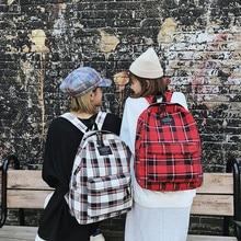 Женская новая сумка, Женская Студенческая сумка для колледжа, клетчатый холщовый рюкзак, дорожная сумка, высококачественный холщовый рюкзак для мужчин, повседневный однотонный