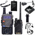 Envío gratis BAOFENG UV-5RE VHF / UHF de banda Dual 136-174 / 400-520 CDCSS CTCSS Radio de dos vías LB0506 negro