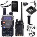 Frete grátis BAOFENG UV-5RE VHF / UHF Dual Band 136 - 174/400 - 520 CTCSS CDCSS rádio em dois sentidos LB0506 preto
