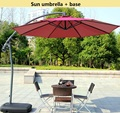 Sun umbrella + base Outdoor umbrella Diameter 3M Fold courtyard Sandy beach Camping Go fishing Stall Sun umbrella furniture