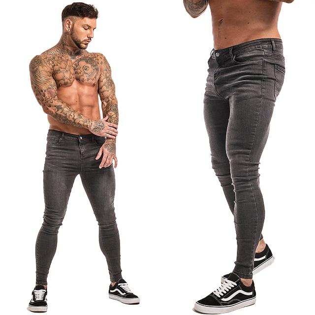 9a59207e1960 Mens Skinny Jeans 2019 Super Skinny Jeans Men Non Ripped Stretch ...