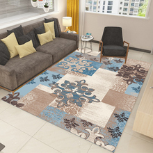Living room coffee table blanket Nordic style long hair carpet bedroom bedside mat Thickened washed silk non-slip rug