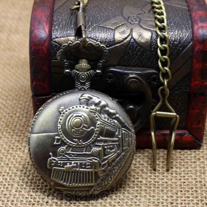 Relogio De Bolso De Aco Inoxidavel - Locomotiva Train Pocket Watch сумка oem couro bolso femininos mg003