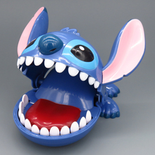 Baby Toy Creative Lilo Stitch Toys PVC Action Figure Fun Toys Crocodile Mouth Dentist Bite Finger Game For Children Adult Family цена и фото