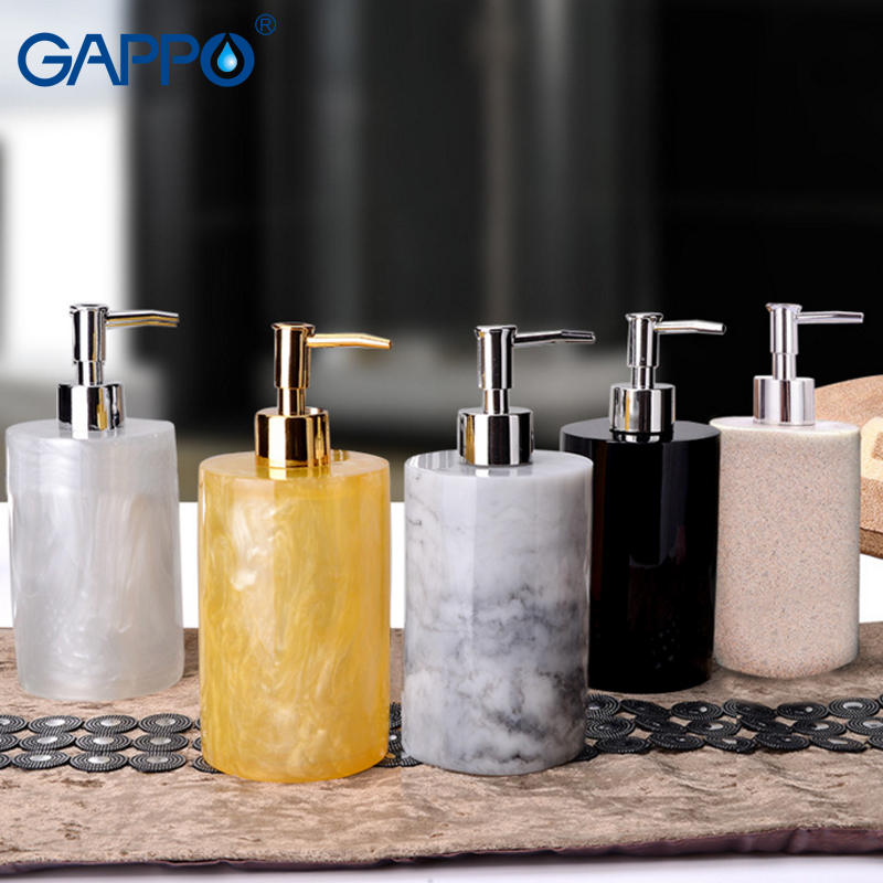 цена на GAPPO liquid soap dispensers Bathroom liquid soap pump imported resin Bottle Bath resin accessories liquid soap pumps