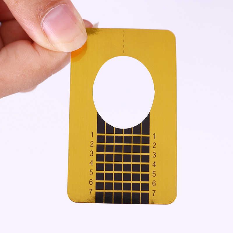 20 Pcs נייל טופס עבור משרים כבוי UV ג 'ל מהיר הארכת ציפורניים ג' ל זהב מקצועי נייל אמנות עיצוב כלים