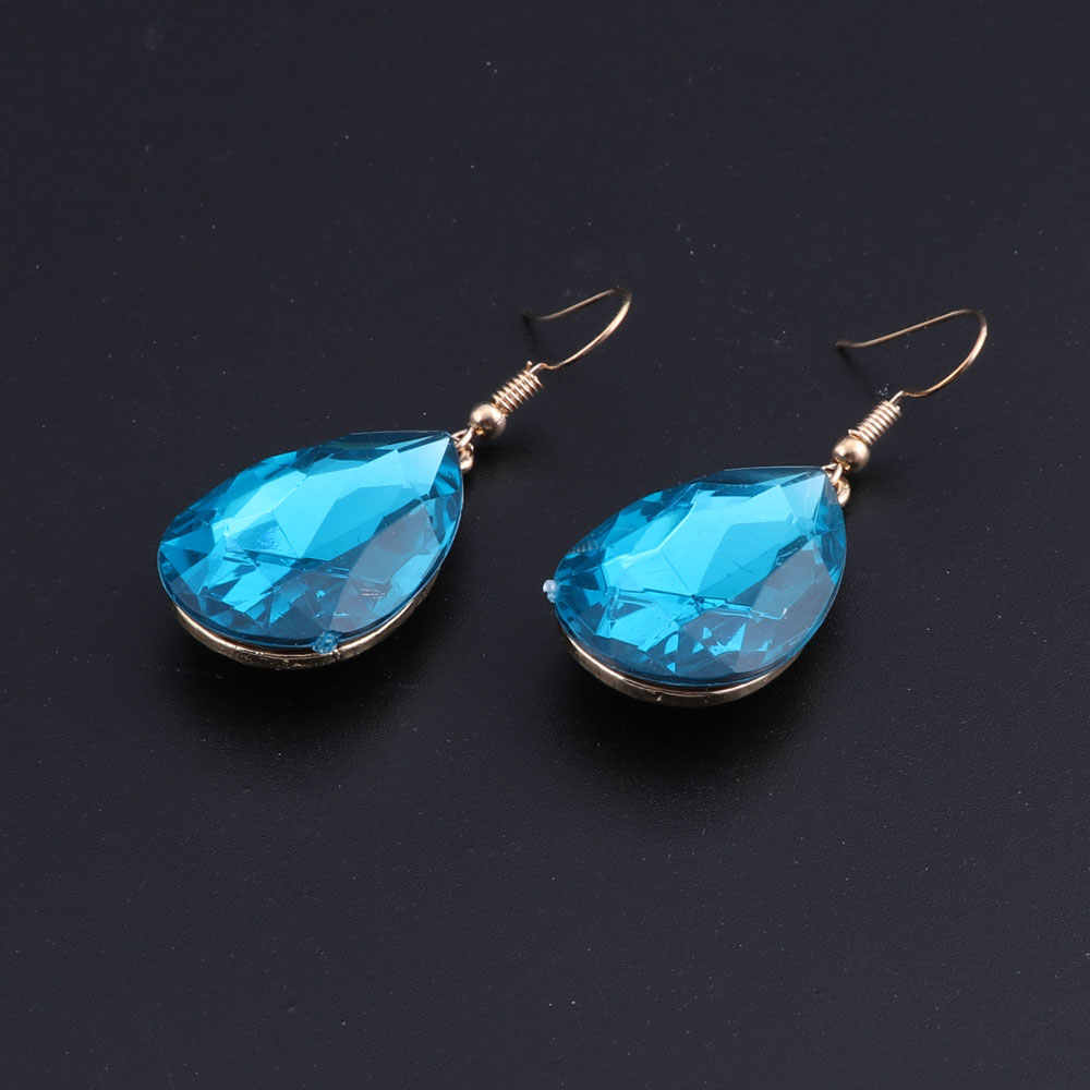 2018 New Africa Wedding Jewelry Sets Blue Crystal Swan Necklace Earrings For Women Bridal Jewelry Sets