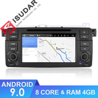 Isudar Car Multimedia player Android 9 GPS Autoradio 1 Din Stereo System For BMW/E46/M3/Rover/3 Series RAM 4G WIFI FM Radio