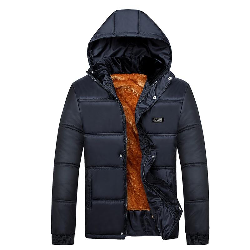 2016 Hot Velvet Warm Coat Slim fit mens Down jacket Top design Cotton Hooded Down Jackets