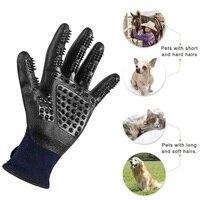 Pet Grooming Handschoenen Hond Haar Kat Borstel Geavanceerde Rubber Verbeterde Vijf Vingers Deshedding Huisdier Handschoenen Voor Hond Kat Dieren