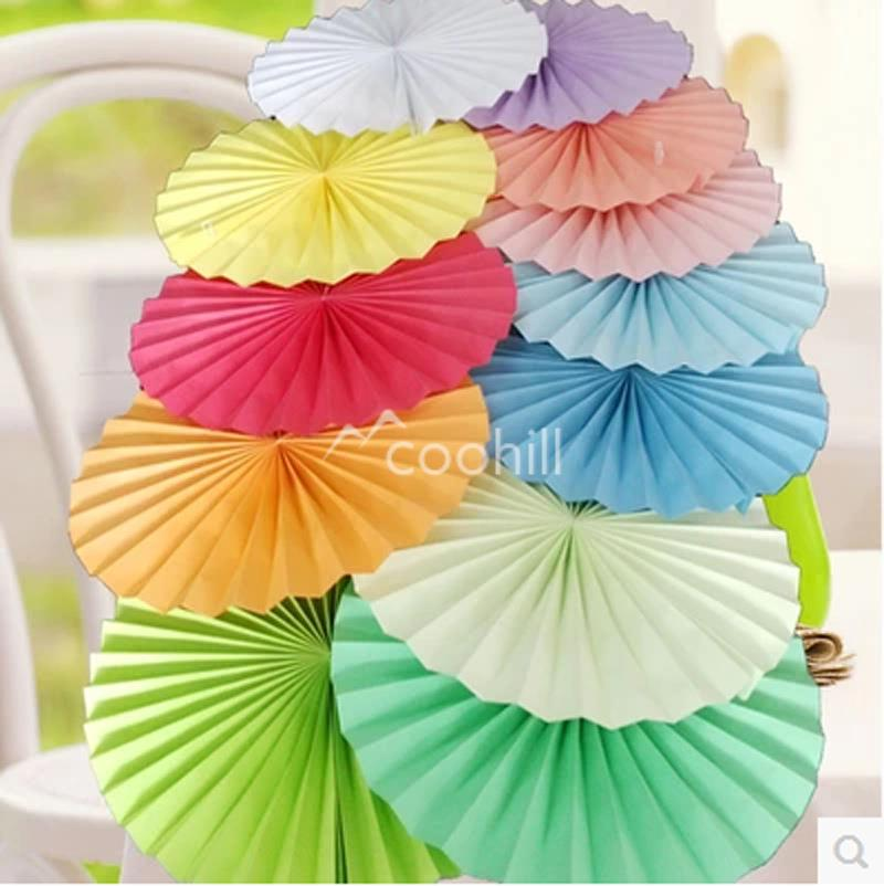 10pc 1025cm Hanging Tissue Paper Flowers Fans Fan Pompoms Wedding