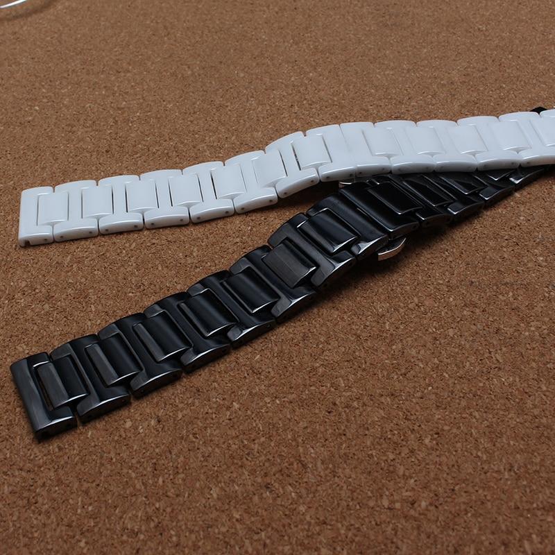 Keramik Armband Armbänder für Diamant Uhr Männer Frauen 14mm 16mm - Uhrenzubehör - Foto 5