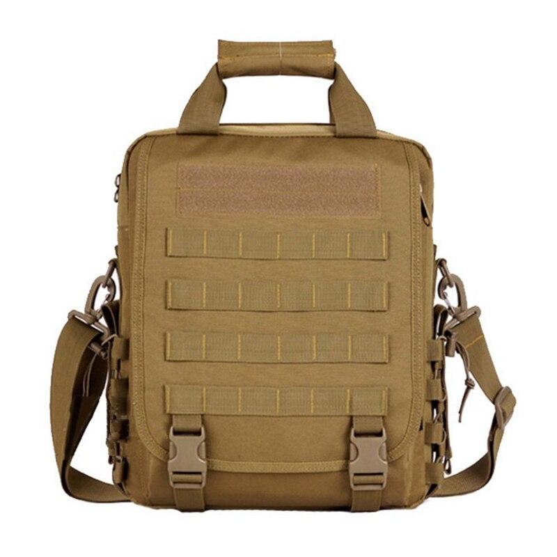 Prix pour Militaire Tactique Portable Portable Sac À Bandoulière En Plein Air Molle Durable Multifonction Sac À Dos Noir Couleur