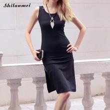 Vestido de punto vestidos de playa vestidos de invierno robe robe hiver femme tirón ucrania pull hombro fuera negro sin respaldo hasta la rodilla vestido