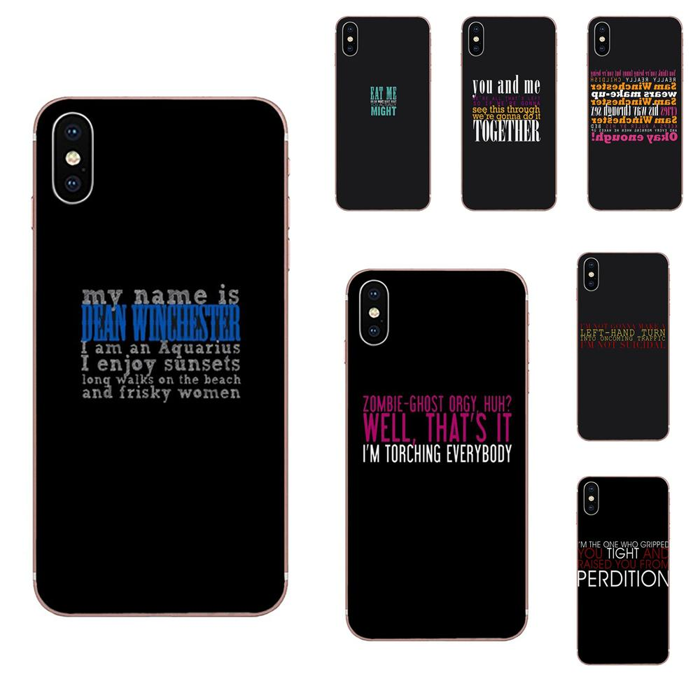Soft Cases Cover For Huawei Honor 4C 5A 5C 5X 6 6A 6X 7 7A 7C 7X 8 8C 8S 9 10 10i 20 20i Lite Pro Tv Series Supernatural Quote image