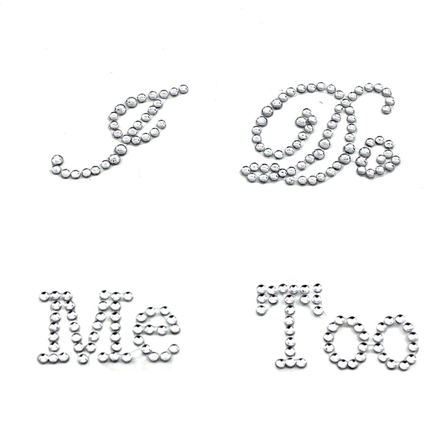 Hot Selling 1 Set I Do Me Too Bridal Groom Shoes Sticker White Clear Rhinestone Wedding Decor Decoration Supplies Accessories