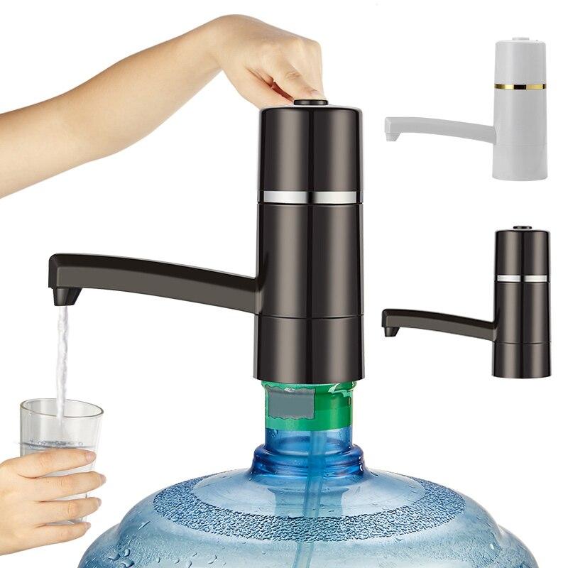 Электрический диспенсер для воды с Перезаряжаемые Батарея питьевой Бутылки для воды Кухня элементы USB легкий насос воды к бутылке j2y