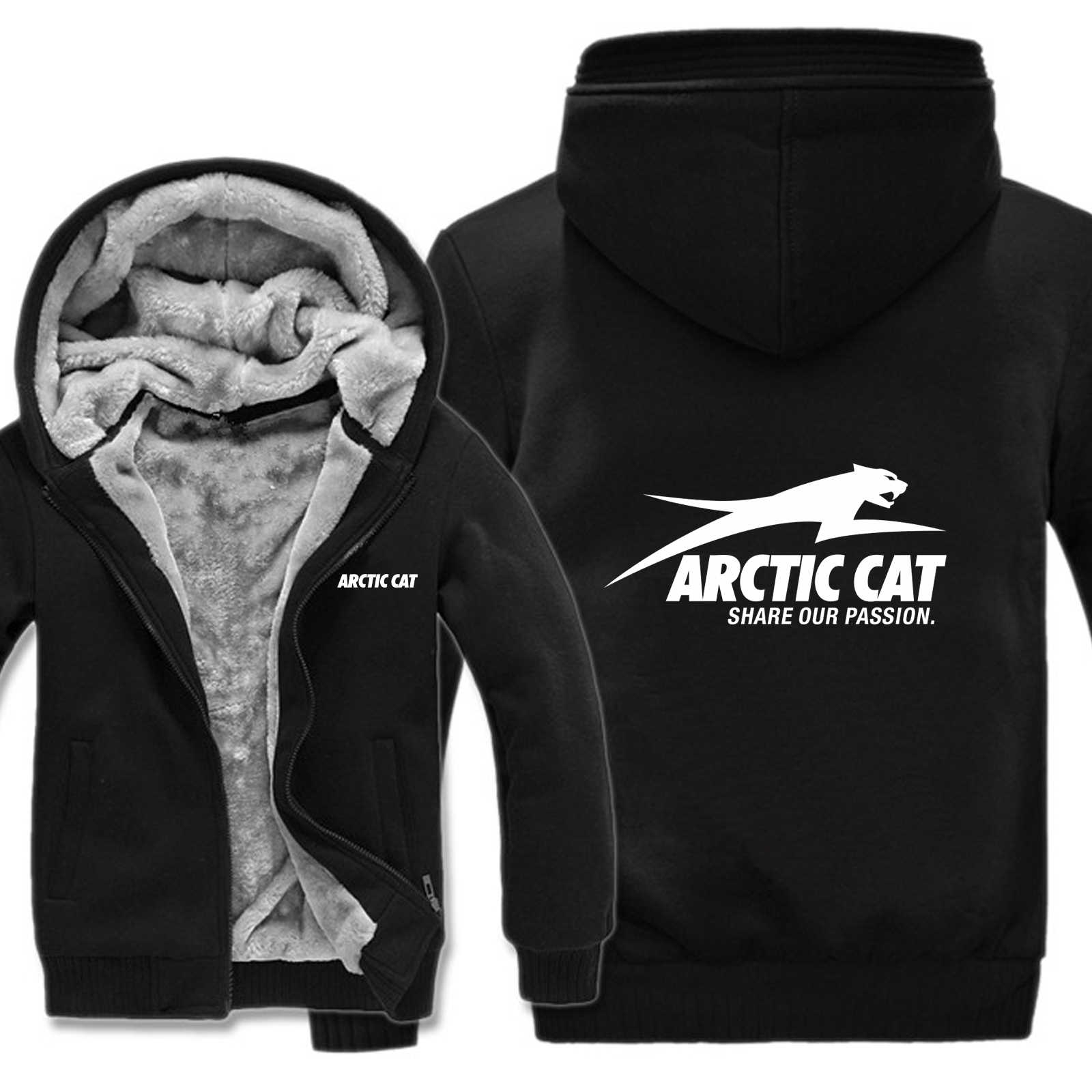 Arctic Cat Hoodies Men Fashion Coat Pullover Wool Liner Jacket Arctic Cat Sweatshirts Hoody HS-017