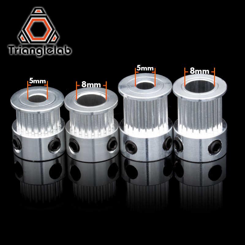 Trianglelab 2GT 20 dentes Tempo De Alumínio Polia Da Correia Da Polia GT2 6mm P5MM P8mm para 6mm correia síncrona Engrenagem roda Dentada
