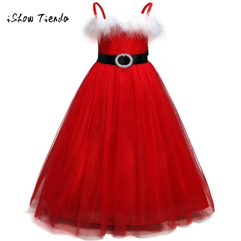Girl Christmas Dresses Costume Toddler Kids Baby Girls
