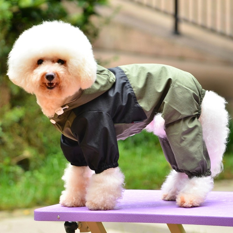 Dog Clothes Dog Raincoat Pet Clothing Apparel Waterproof jacket with hood High Quality For Small Medium Large Dogs