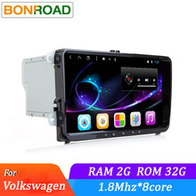 "Octa Core Allwinner T8 2Din 9 ""Android 7.1.2 coche reproductor Multimedia Radio para VW Golf Polo Passat Jetta Tiguan touran para Skoda(China)"