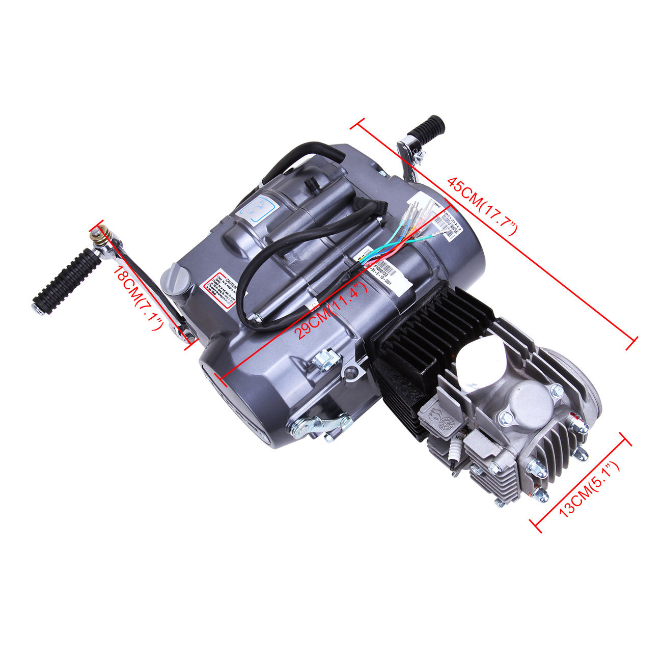 цена на 125CC CDI Dirt Bike Engine Motor Carb 124cm3 For Honda XR50 CRF50 XR CRF 50 70