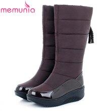 MEMUNIA Low price ! Plus size 35-44 new snow boots for women platform tassel slip on keep warm winter women knee high boots