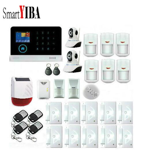 SmartYIBA 3G WIFI Alarm system APP Remote Control Burglar Arm Disarm IP Camera Solar Powered Siren Pet Immune PIR Alarm Kits блузка топ iblues блузка топ