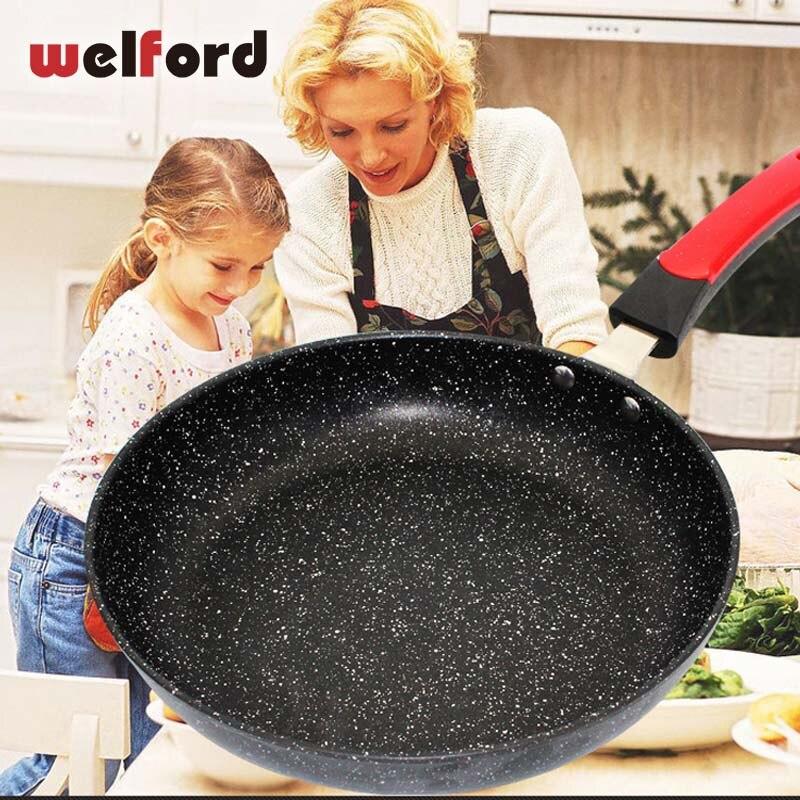 Poêle à Steak à crêpes multi-usages poêle antiadhésive sans fumée utilisation pour cuisinière à Induction à gaz épaississement pierre médicale