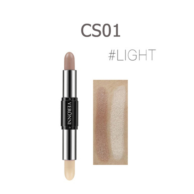 Double-end Highlighter Stick V-face Contour Makeup Highlighter Shimmer and Shine Make Up TSLM1