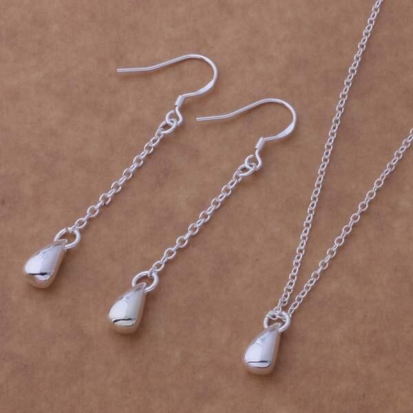7ad099e8379d As090 plata al por mayor de moda Juegos de joyería pendiente 173 + collar  681 agmaixta bhjajyqa