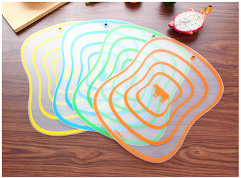 4Pcs/set Kitchen Non-Slip Plastic Cutting Boards Cut Chopping Block Portable Frosted Antibacteria Vegetable Meat Cutting Pad 6