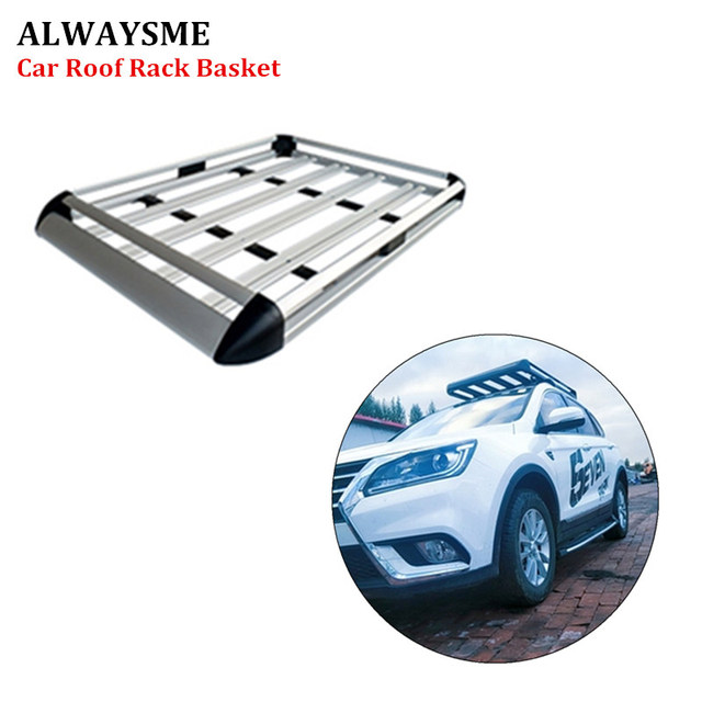 ALWAYSME 130X90CM Aluminum Car Top Hitch Mounted Cargo Carrier Rack Luggage Basket With Mount Parts Silver Color Or Black Color
