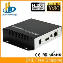 DHL Frete Grátis H.264 Codificador De Vídeo Suporte a HDCP HDMI Para IP Codificador de Streaming Ao Vivo IPTV Hardware UDP RTMP RTSP HLS Streamer