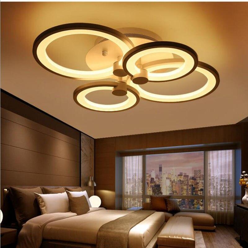 L anneau plafonnier lampe de salon moderne minimaliste chambre lampe personnalité art restaurant lampe étude