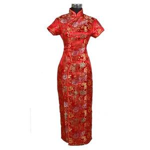 Image 5 - Chinese traditional Womens Long dress Qipao Cheong sam Wedding Evening Dress Size S M L XL XXL XXXL   C0001