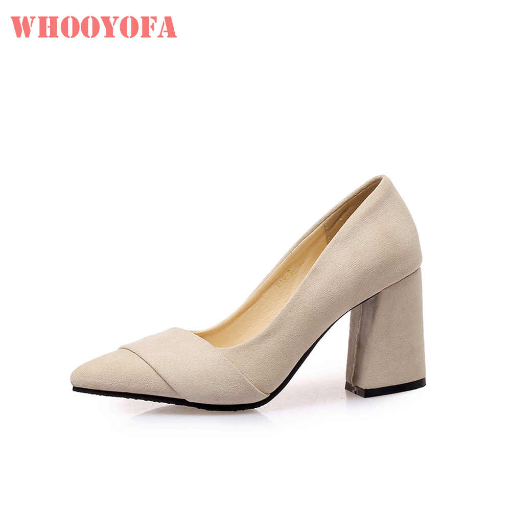 e58998af7ee Hot 2019 Brand New Comfortable Beige Black Women Nude Pumps 3 Inch High  Heels Lady Shoes