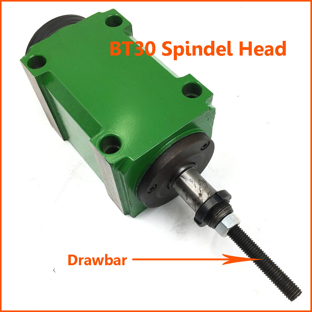 2HP 1.5KW BT30 Milling Spindle Head Taper 7:24 Power Head Unit High Speed 3000rpm for Milling Machine with Drawbar цена