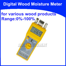 Free Shipping Digital Wood Moisture Meter Tester Analyzer   for various wood products  Range:0%-100%  resolution:0.1%