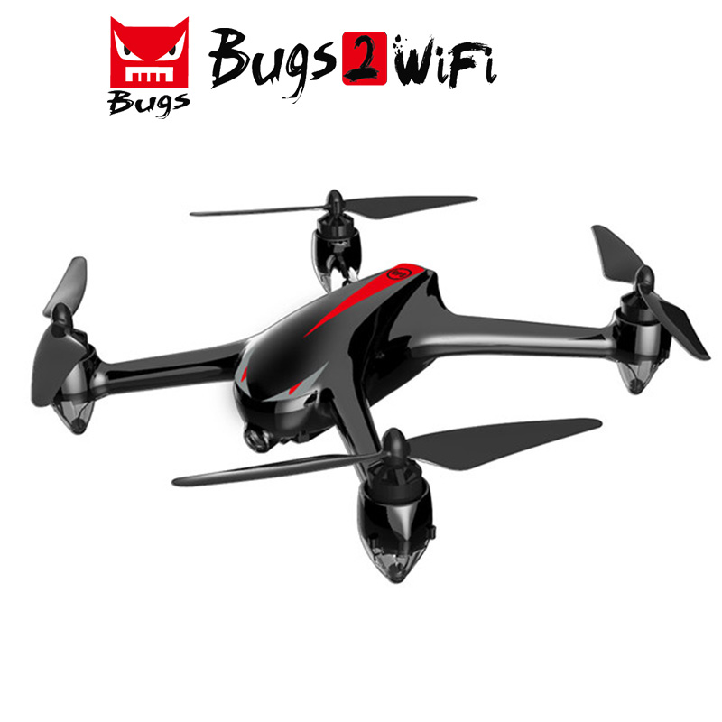 MJX B2W Bugs 2W Monster WiFi FPV Brushless With 1080P HD Camera GPS Altitude Hold RC Quadcopter Helicopter Drone-Black mjx квадрокоптер на радиоуправлении bugs 2