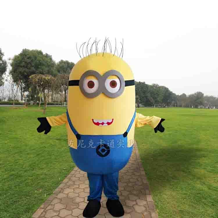 A estrenar personalizado Despicable me minion traje de mascota hecho Despicable Me 2 dibujos animados trajes de mascota ladrón papás amarillo