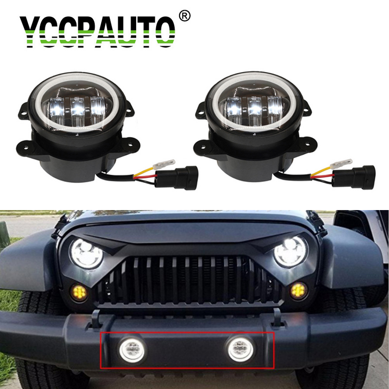 Jeep Wrangler Fog Lights >> Us 39 98 13 Off 2pcs 4
