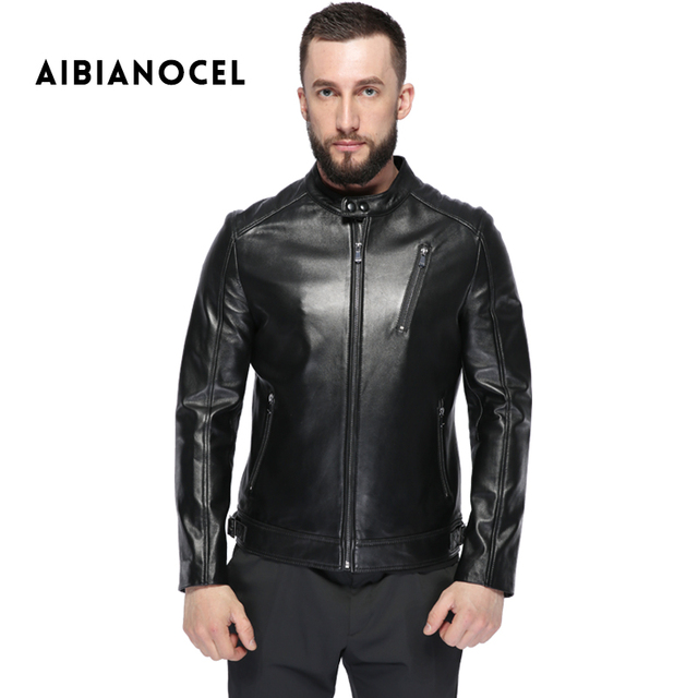 AIBIANOCEL 2017 Winter Men Leather Jacket Sheepskin Coat Men ...
