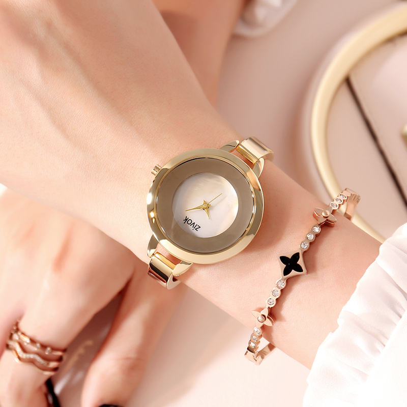 Zivok Gold Ladies Wrist Watch Women Bracelet Luxury Creative Lovers Quartz Women Clock Relogio Feminino Reloj Mujer ZA8002 guou fashion bracelet women watches luxury brand ladies quartz wrist watch relogio feminino reloj mujer clock saat hodinky