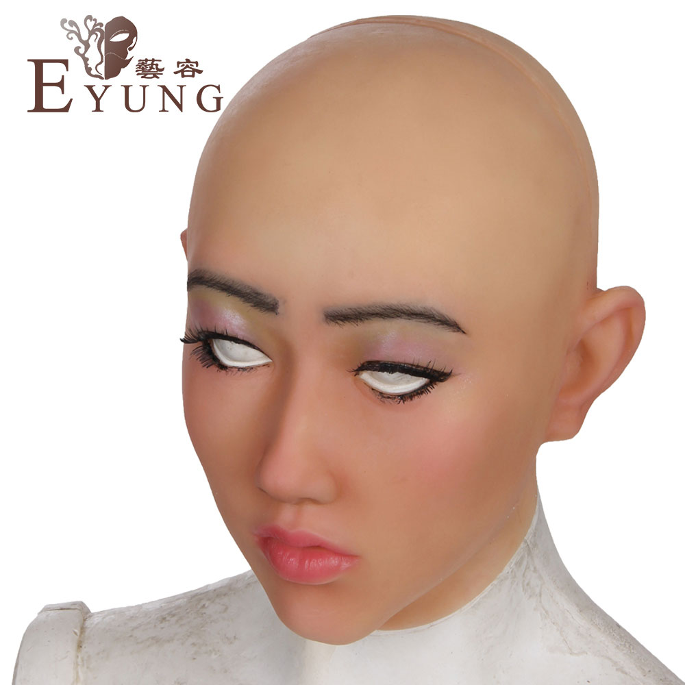 YR-H-Shivell Top quality masquerade for man,crossdresser silicone female headwear, realistic goddess for halloween,drag queen