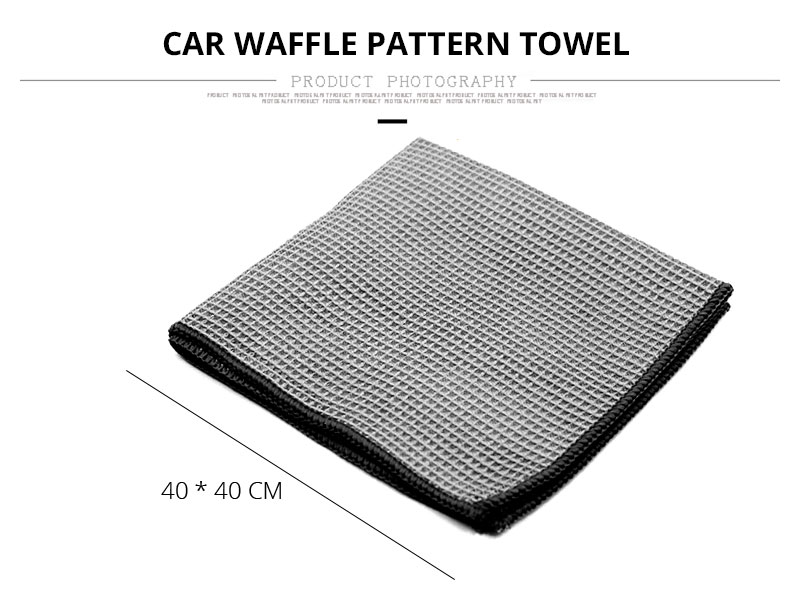 Car Wash Towel Glass Cleaning Water Drying Microfiber Window Clean Wipe Auto Detailling Waffle Weave for Kitchen Bath 4040 cm (3)